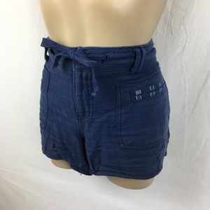 Anthro Hei Hei Blue Cotton Shorts 27